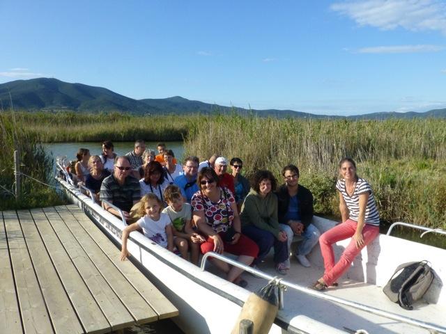 Casa Rossa und Diaccia Botrona- Bootsfahrt auf dem Kanal Foto: Rita Briese